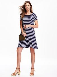 Old Navy Womens Rib-Knit Swing Dress