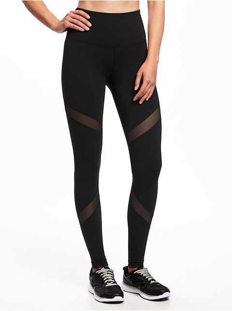 b58dc215bde High-Rise Mesh-Panel Elevate Compression Leggings for Women