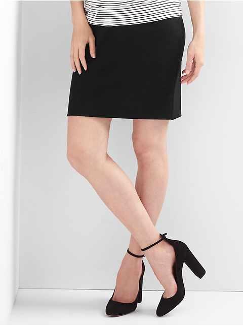 Charcoal Ed Maternity Pencil Skirt