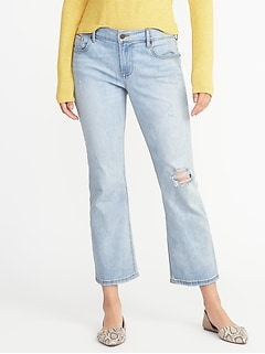 db1b5f00f Distressed Flare Cropped Jeans for Women