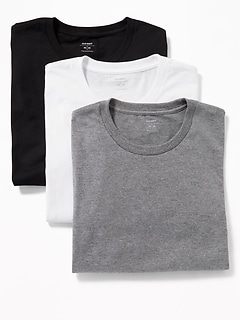 ee4cffcfeaa63 Moisture-Wicking Crew-Neck Tees 3-Pack for Men