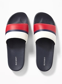 53532b9bcf9 Faux-Leather Slide Sandals for Men on sale at Old Navy for $11 was ...