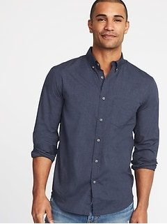 Slim-Fit Poplin Shirt For Men (Was $32.99, Now $12)