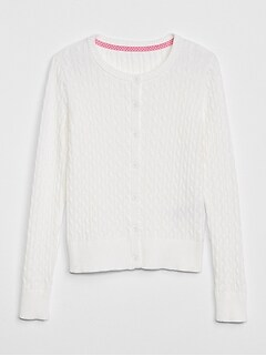Uniform Cable-Knit Cardigan Sweater bc890217f