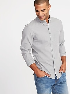 Slim Fit Poplin Shirt For Men