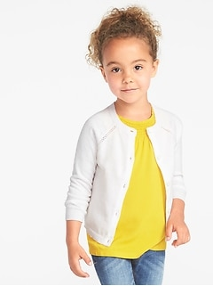 827b6969196f0 Button-Front Crew-Neck Cardi for Toddler Girls