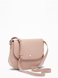 Faux Leather Saddle Bag For Women