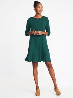 9bb7cb8682aac Plush-Knit Swing Dress for Women