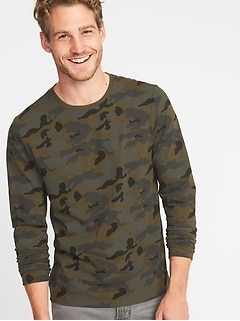 ebf93850b6 Soft-Washed Crew-Neck Camo Tee for Men