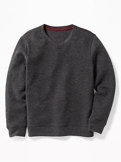 c350830edaf French-Rib V-Neck Sweater for Boys