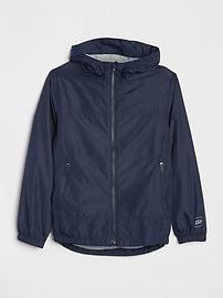 갭 GAP Kids Jersey-Lined Windbuster,true indigo