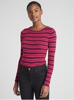 b5ae9c70b1 Mix-Stripe Ribbed-Knit Pullover Sweater