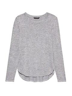 71005868e38ee9 Luxespun Curved Hem T-Shirt