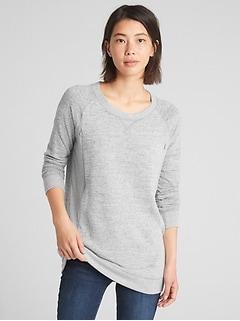 32c60b4572 Maternity Marled Nursing Pullover Sweatshirt