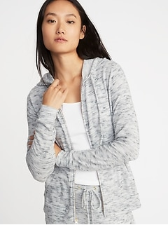 ed5bcc7cfd Relaxed Plush-Knit Lounge Hoodie for Women