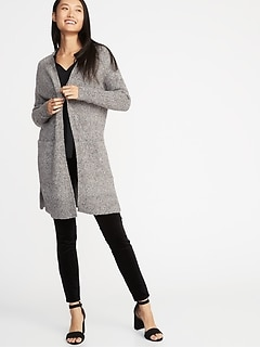 1da89287be4 Super-Long Open-Front Heavyweight Sweater for Women