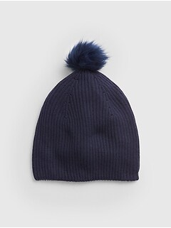 Cozy Faux-Fur Pom-Pom Beanie 95e37ac698e0
