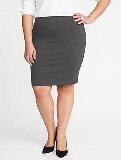 137748427ba Smooth   Slim Ponte-Knit Plus-Size Pencil Skirt