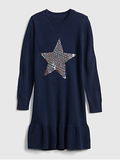 Flippy Sequin Star Dress
