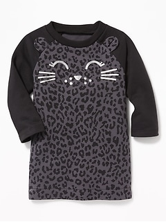 Kitty-Graphic Raglan Sweatshirt Dress for Baby a48d5dae7443