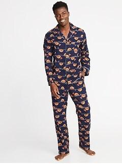 734b111dc5 Patterned Flannel Pajama Set for Men