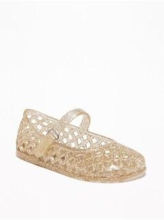 Oldnavy Basket-Weave Jelly Ballet Flats For Toddler Girls