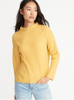 Mock-Neck Rib-Knit Sweater for Women 8c8658464
