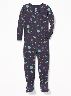 c61d4cc671 Space-Print Footed Sleeper for Toddler   Baby