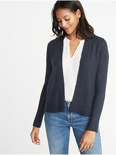 60e1dba8ac Plush-Knit Open-Front Sweater for Women