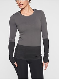 652c729a11909 Flurry Colorblock Base Layer Top