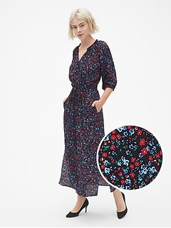 29ee8a8d8976 Perfect Tie-Waist Maxi Shirt Dress