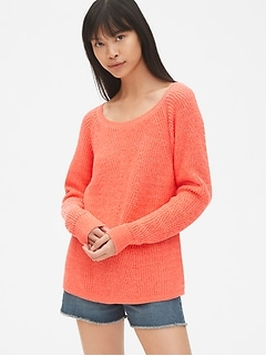 7c46a3234 Vintage Wash Diagonal Ribbed Pullover Sweater