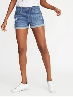 90403718d54 Distressed Boyfriend Denim Shorts for Women -- 3-inch inseam