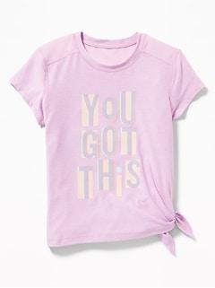 7038710add340 Ultra-Soft Breathe ON Built-In Flex Side-Tie Tunic for Girls