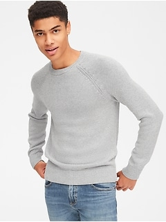 Textured Crewneck Pullover Sweater 0617781c5