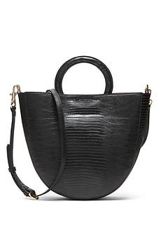 Vegan Leather Circle Handle Bag 4622322b44add