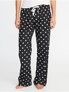 Printed Poplin Sleep Pants for Women dd2efe914