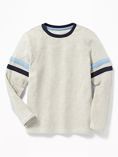 71aef4b61 Plush-Knit Sleeve-Stripe Football Tee for Boys