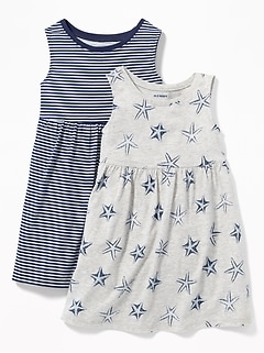 0535e39a8b 2-Pack Printed Sleeveless Fit   Flare Dress for Toddler Girls