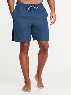 0bd5ac9aa6b9a Side-Stripe Swim Trunks for Men - 8-inch inseam