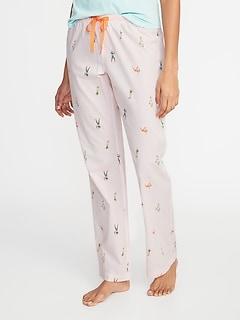 e65f51782a Printed Poplin Sleep Pants for Women