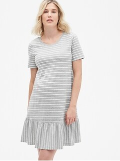 c3ca3d4fcf8f6 Maternity Ruffle Hem T-Shirt Dress