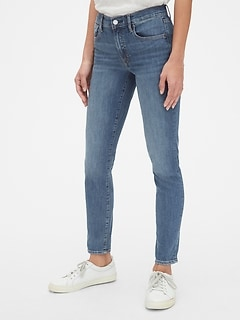 642a0963bf7 Mid Rise True Skinny Jeans with Gap-Exclusive Stretch
