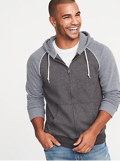 eff7a746dfc Color-Blocked Piped-Trim Zip Hoodie for Men