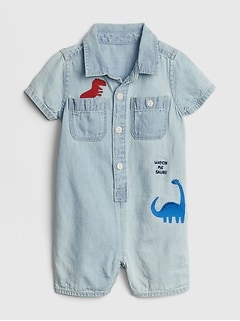 497de604e0c2 Denim Dino Shorty One-Piece