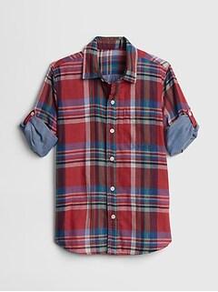 14b2d5c323f4b4 Double-Weave Convertible Shirt