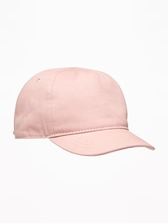 00d57e00bb2 Pink Twill Bow-Tie Baseball Cap for Toddler Girls