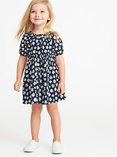 8ca8607c1 Floral-Print Shirt Dress for Toddler Girls