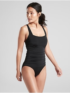 fff489af6462b Aqualuxe Wide Strap Square One Piece