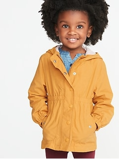 3384723a1d Water-Resistant Hooded Anorak for Toddler Girls
